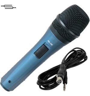 Microfono Cantante Karaoke Con Switch + Cable Ross Fm138