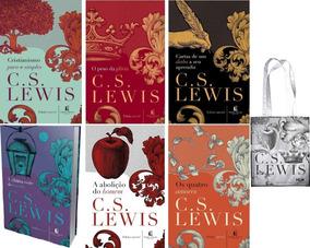 Coleção C S Lewis 6 Livros: Glória; Cristianismo;... + Bolsa