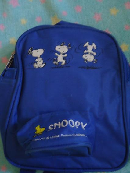 Mochilinha Infantil Do Snoopy Para Bebês Usada