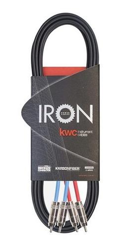 Cable Kwc Iron 282 Rca X Rca 1.5 Metros - Cuotas