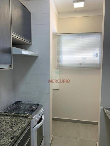 Imagem 1 de 15 de Apartamento Com 1 Dormitório Para Alugar, 56 M² Por R$ 1.500,00/mês - Jardim Panorama - Bauru/sp - Ap2056