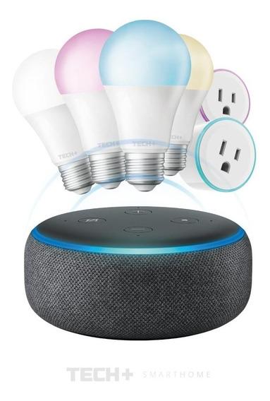 Alexa Echo Dot + 4 Focos Smart Wifi + 2 Enchufes Smart Wifi
