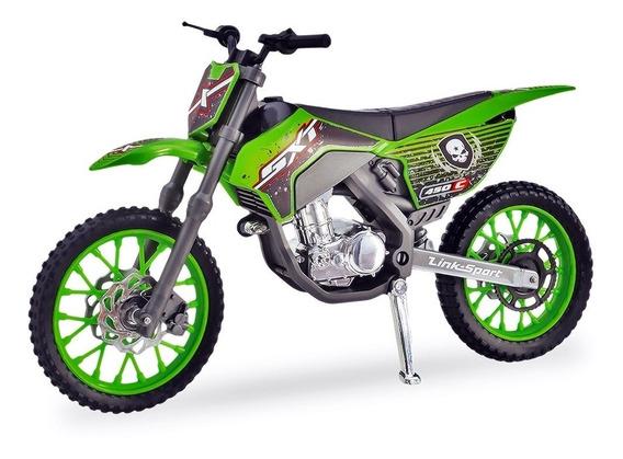 Moto Cross Miniatura 29cm Pneus Borracha - Usual Brinquedos