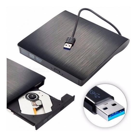 Drive Externo/portátil Slim Gravação/leitura Dvd-rw 3.0