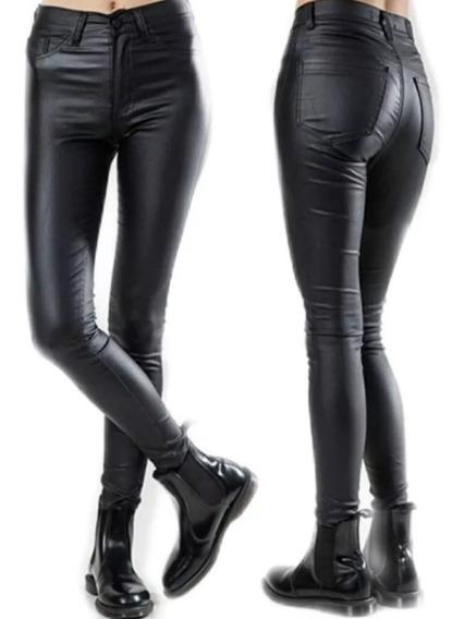 Pantalón Chupin Engomado - Mujer - Tiro Alto - Envío Gratis.