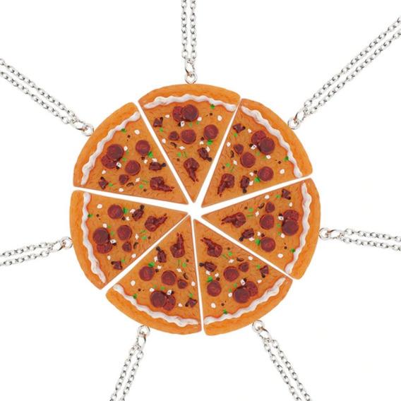 Colar Encaixe Pizza - 3 Unidades - Amigas Friends Amizades