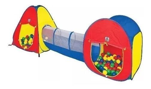 Barraca Infantil 3 X 1 Com Tunel