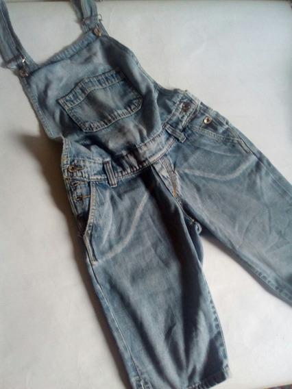 Macacão Jeans Feminino Jardineira