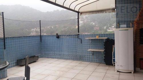 Imagem 1 de 25 de Cobertura Com 3 Dormitórios À Venda, 142 M² Por R$ 585.000,00 - Marapé - Santos/sp - Co0022