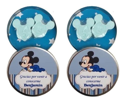 Minnie Y Mickey Jaboncitos Souvenir En Lata
