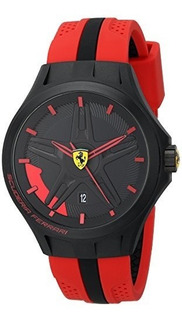 Reloj Ferrari Para Hombre 0830159 Color Negro/rojo Con