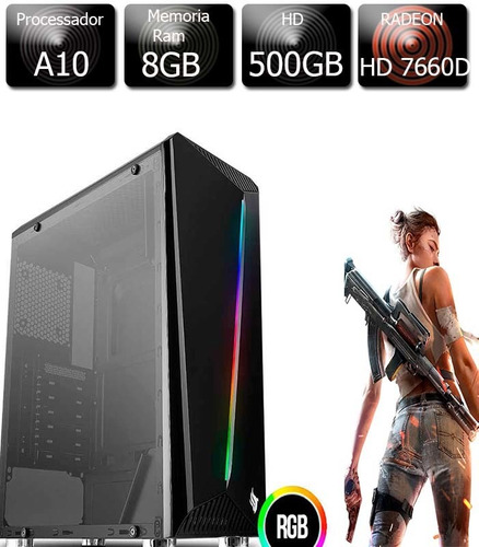 Pc Gamer A10 - 5800 3.8ghz 8gb Ddr3 Hd 500gb Radeon Hd7660d