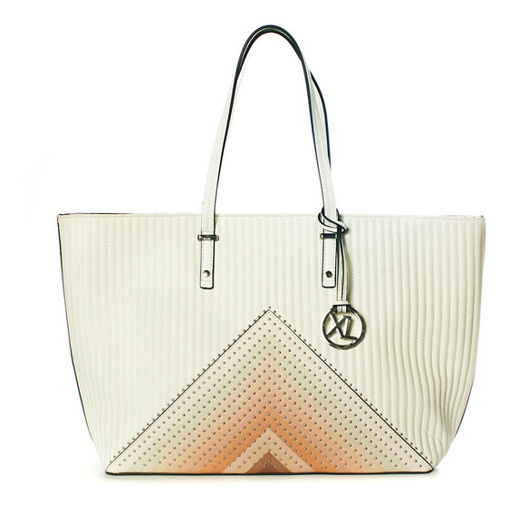 Grazia Tote Blanco Xl Extra Large Mujer