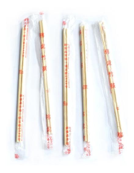Palitos Chinos De Bambu Sushi 20cm X100