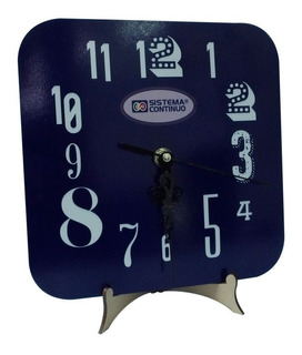 Reloj Para Sublimar De Madera Brillante Cuadrado Con Maquina
