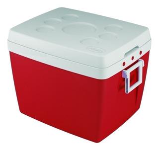 Caixa Térmica Cooler Vermelho 75l Com Alça Mor