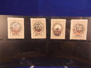 Antique, Sellos Guerra Del Pacifico, Ocupación Del Perú.