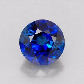 Zafiro Redondo Azul Kachemira 0.35 Cts 4mm 100% Natural