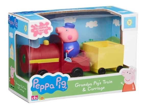 Peppa Tren Del Abuelo Cerdito + Carrito