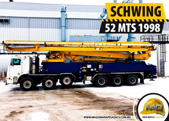 Bomba De Concreto Freightliner -schwing 52 Mts 1998