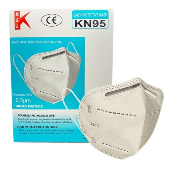10 Cubrebocas Ksl Cert K N95 Protección Virus Reutilizable