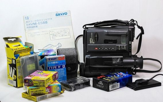 Kit Câmera Filmadora Sanyo,filmes,carregador E Bateria