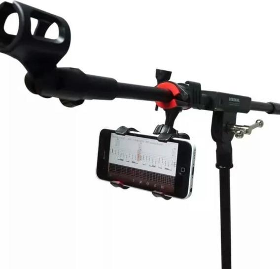 Suporte De Celular P/ Pedestal De Microfone Cifras E Letras