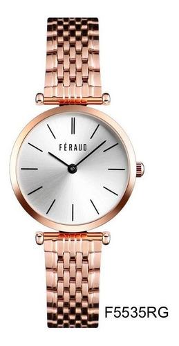 Imagen 1 de 4 de Reloj Feraud F5535rg Mujer Acero Inoxidable Dorado Rosé