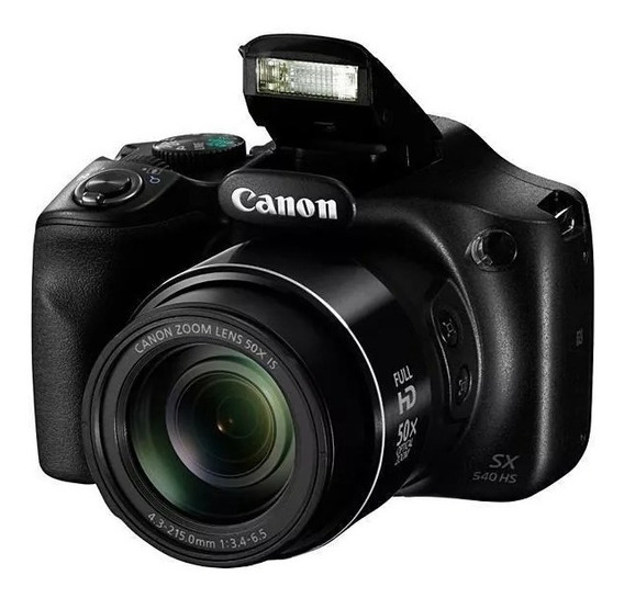 Câmera Canon Sx540 Hs - 20mp Full Hd 50x Zoom Wifi