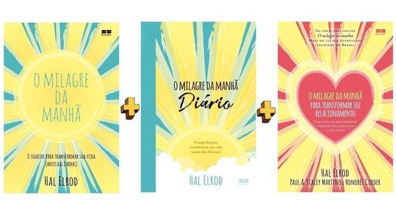 O Milagre Da Manhã - 3 Livros Da Coleção - Hal Elrod