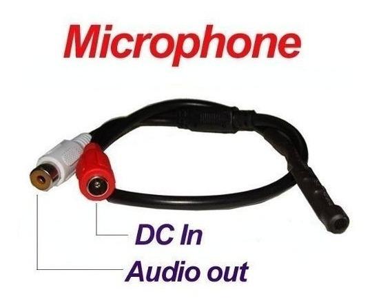 15 Microfone Amplificado Para Câmera De Cftv Alcance 40 M²