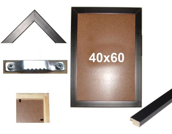 Moldura Para Quadro 40x60 Em Madeira Laqueada Com Vidro