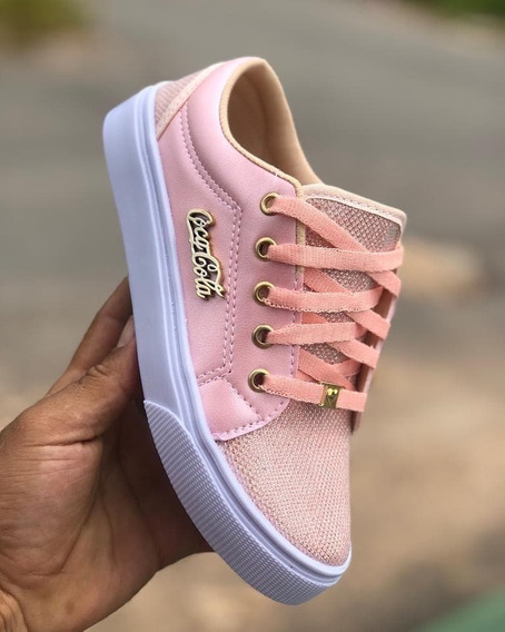 Tênis Sapatênis Feminino Rosa - Calçados Femininos Rosa