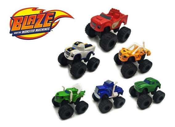 Blaze Monster Machines Kit Com 6 Carrinhos Fricção