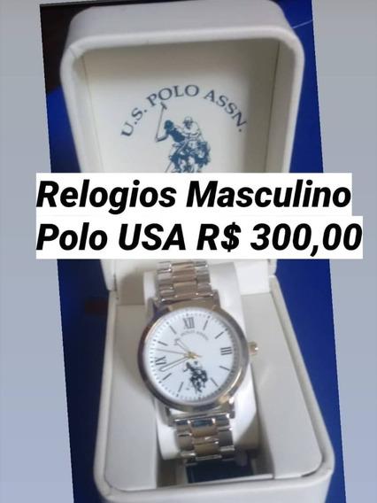 Relogio U.s. Polo Assn. Masculino Homem Classico