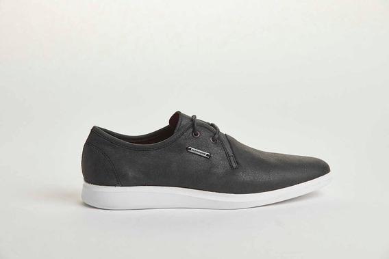 Zapato Urbano Acordonado Negro Cuero 100% Vacuno Narrow