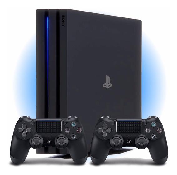Playstation 4 Pro Ps4 1tb 4k 2 Controles 1 Ano De Garantia