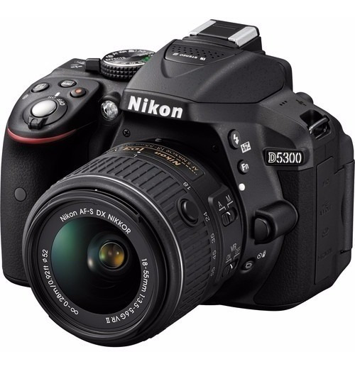 Câmera Nikon D5300+18-55+64gbc/10+bolsa+tripe,pronta Entrega
