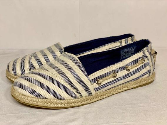 Mocasín Nautica Rudder Mujer Zapato Sin Cordón A4