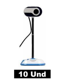 Kit 10 Webcam Ms-830 10mp Usb 2.0 C/microfone