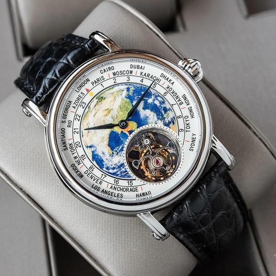 Relógio World Time Fagrique Trento , 31 Rubis V Safire
