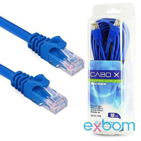 Cabo De Rede 10 Metros Rj45 Cat5 E Azul No Blister Modelo Cb