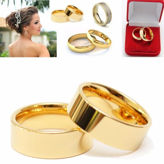 Alianças Casamento Noivado Cor Ouro Moedas Antigas A Unidade