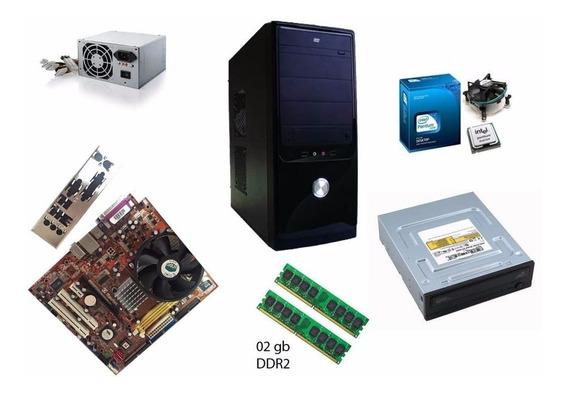 Computador Dual Core Cpu + 02gb + Hd 160gb + Programas!