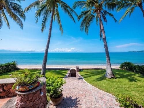Imagen 1 de 14 de Casa En Venta, Frente A Playa, Bucerias $2,650,000 Usd