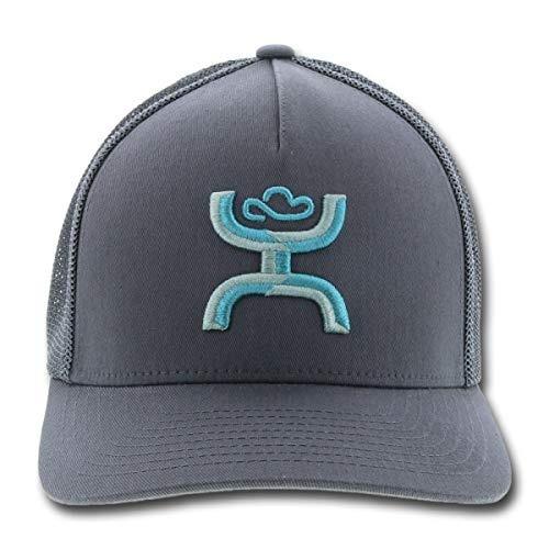 Hooey Sombreros Entrenador Gris Sobre Gris 5 Panel Logo Flex