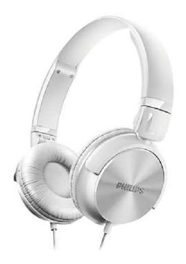 Fone De Ouvido Philips Shl3060wt Headphone Branco Nf