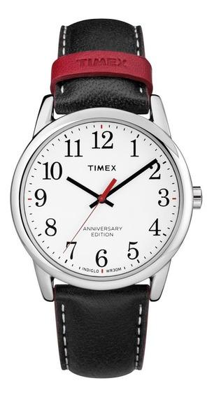 Reloj Timex Easy Reader Tw2r40000 Piel Negro Para Caballero