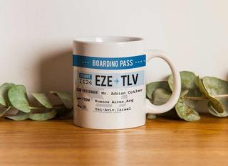 Taza Boarding Pass Personalizado Avión