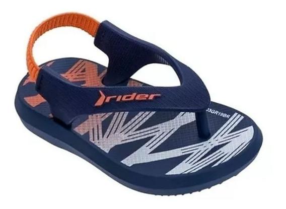 Chinelo Baby R1 Rider Infantil Azul/laranja 010792